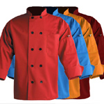 Colored Poly/Cotton Chef Coats